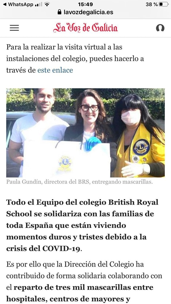 EL COLEGIO BRITISH ROYAL SCHOOL DONA MASCARILLAS