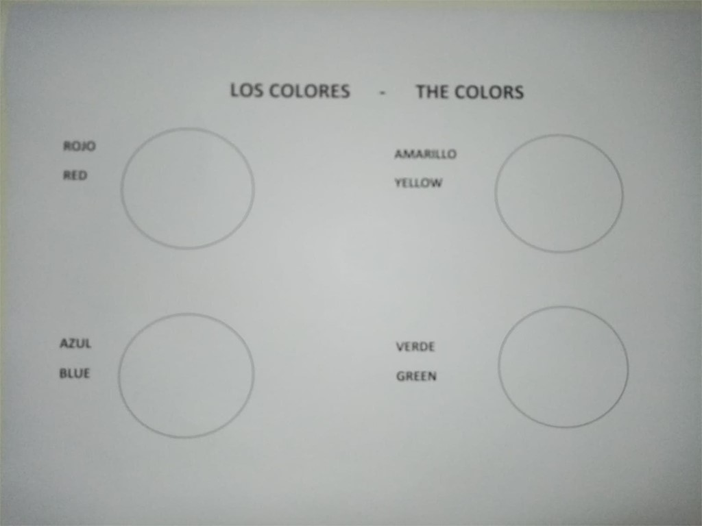 LOS COLORES= THE COLORS